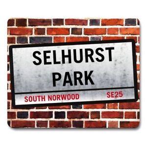 SELHURST PARK London Street Sign MOUSEMAT crystal palace football mouse mat pad