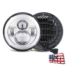 "DOT Approved 7"" Round LED Projector Headlight Light Bulb for Jeep JK TJ Motor"
