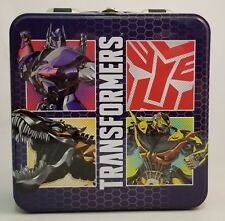 Transformers Metal Lunch Box ~ Autobots ~NEW~ Optimus Prime~Bumblebee~Grimlock