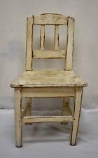Antique Painted Oak Child's Chair