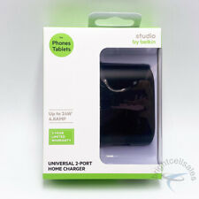 studio by BELKIN 24W Universal 2-Port Rotatable Prongs Home Wall Charger