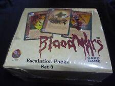 RARE Blood Wars card game Escalation Packs Set 3 new box Powers Proxies TSR 1995