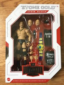 WWE ULTIMATE EDITION STONE COLD STEVE AUSTIN FIGURE SERIES #9 MATTEL NEW!!