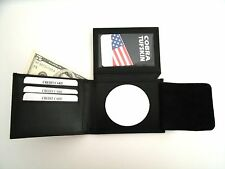 "Peace Officer NC. Badge ID Wallet  BI-FOLD 2 1/4"" Diameter  Cut Out CT-83"