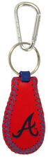 Atlanta Braves Color Leather Baseball Keychain (New) Key Chain Jewelry