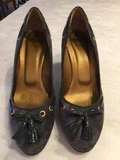 Suede Block Solid Casual Heels for Women