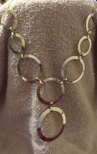 Necklace Length 18 inches Open Circle Silver-Tone Frontal