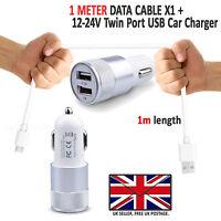 DUAL CARGADOR DE COCHE PLUS Tipo C USB 3.1 Carga rápida cable - Huawei P10