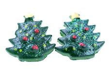 Lovely green Christmas tree stud earrings, Xmas gift