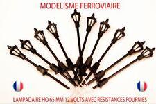 Lot De 10 Lampadaires De Ville A Led Ho 1/87  65 mm 12v Avec R 510 Ω JOUEF LIMA