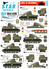 Star Decals, 35-C1120 British M3 Lee in Burma 1944-45. 3rd Carabinie, SCALE 1/35