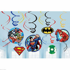 DC Justice League Party Supplies Swirl Decorations 12ct