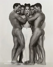 """1995 MATTED 16""""X12"""" Christy Turlington & Male Nudes HERB RITTS Photo Art"""