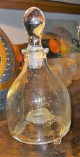 Art populaire piège à guêpes XIXe verre à décor d'insectes