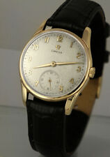Large, 9k Solid Gold OMEGA Men's Watch, New Omega Strap, 6mths Warranty 9ct 1271