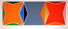 Larry Zox Three Square Composition Signed XX/LX Geometric Art 1978