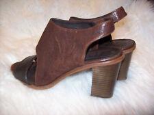 Keep Walking Hakei Women's EU 39 Wedge Brown Black Heels 8 Made in Spain