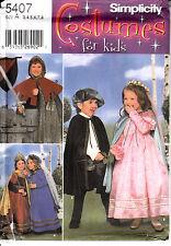 Renaissance Costume Sewing Pattern Medieval Child 3-8 Simplicity Uncut 8318 5407