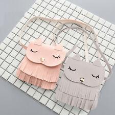 Cute Children Girls Cat Tassel Handbag Shoulder Messenger Bag Crossbody Wallet