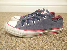 Converse All Star CT OX Grey Pink Canvas Trainers, Size UK 4 EU 36.5