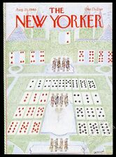 Jean Jacques Sempe playing card royalty art New Yorker August 25 1980 cover