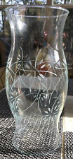 Partylite #P0446 Vanessa Hurricane Candle Shade Etched New In Original Box
