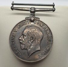 Sterling Silver British Army War Medal 1914-1920 to Canadian Army Medical Corp.