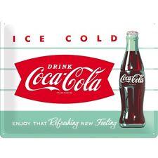 Targa in Latta Coca-Cola - Diner Bottle 30 x 40 in metallo stampato