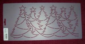 "6"" Christmas Forest Border Quilt Stencil (HA422)"