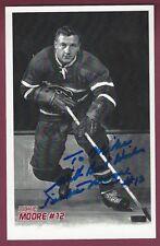 Dickie Moore, NHL Player, Signed Photo, COA, UACC RD 036