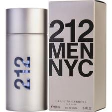 212 MEN NYC 100ml EDT SPRAY FOR MEN BY CAROLINA HERRERA ------------ NEW PERFUME