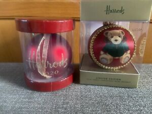 Harrods Christmas 2020 Red Bauble and Silk Bauble Ornament Decorations, BNWT
