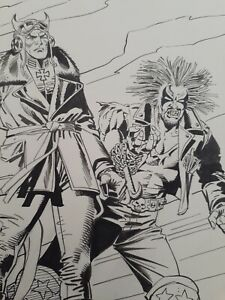 DC - LOBO and ENEMY ACE - splash page by EC great JOE ORLANDO and DICK GIORDANO