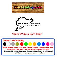 RENAULT SPORT NURBURGRING Sticker/Decals x 2