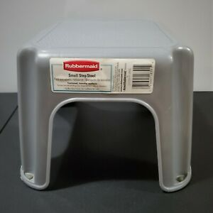 """2002 Rubbermaid Gray Small Step Stool Non-Slip 12.25 x 10 x 7.12"""" Made in USA"""