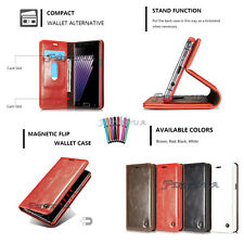 Genuine Smart Magnet Luxury Premium Wallet PU Leather Case Cover For Cell Phone