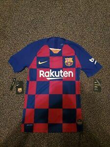 Nike FC Barcelona Home Vaporknit Match 19/20 Authentic Jersey Men XS AJ5257-456