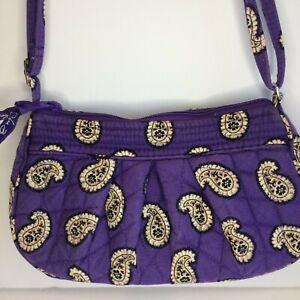 """Vera Bradley SIMPLY VIOLET """"Frannie"""" small Crossbody Bag purse"""