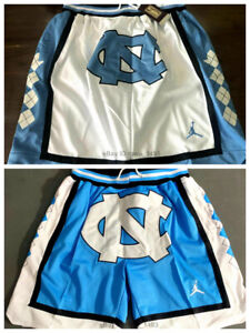 North Carolina Shorts with Pockets Men's Basketball Shorts Stitched 2 Colors