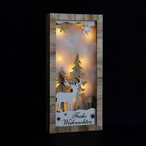 Wandbild LED Frohe Weihnachten Deko Weihnachtsbild Beleuchtung Weihnachtsdeko