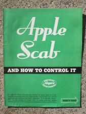 Niagra Sprayer & Chemical Div. Food Machinery Corp Apple Scab literature 1946