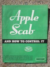 Niagra Sprayer & Chemical Div. Food Machinery Corp Apple Scab literature 1946