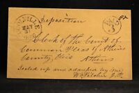 Ohio: Coolville 1850s Stampless Cover, Black CDS, Circled PAID 3, Athens Co