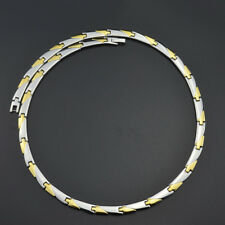 Titanium Steel 52 Power Germanium Magnetic Therapy Necklace Headaches Arthritis