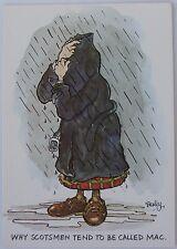 "Cartoon postcard ""Why Scotsmen tend to be called Mac"""