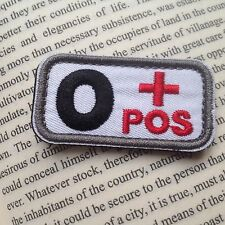 2 pcs Military Blood Type O+ Positive Tactical Army Embroidered PATCH/BLC