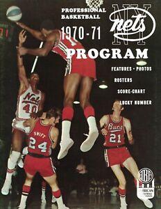 1970 ABA basketball program New York Nets VG
