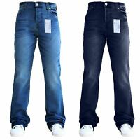 BNWT New Mens Designer Bootcut Pant Leg Jeans Flared Stretch Denim All Sizes SNS