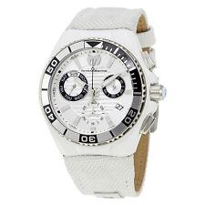 TechnoMarine Cruise Locker Chronograph Silver Dial Mens Watch 115164