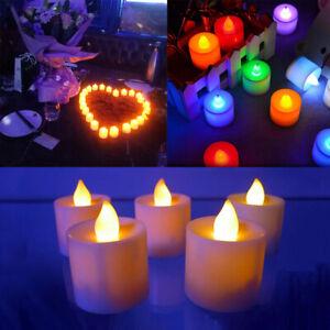 LED Fake Candles Super Realistic Flameless Electronic Tea Light Multicolor HL710